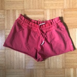 Lululemon Red Sweat Shorts